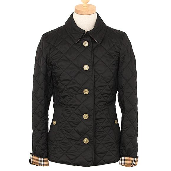 バーバリー BURBERRY アウター レディース キルティングジャケット ブラック 黒 FRANKBY 8002545 QJA 1189 BLACK 【英国】