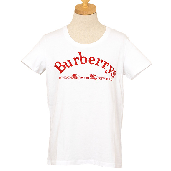 バーバリー BURBERRY トップス レディース 半袖Tシャツ ホワイト PAIRI 8002724 ABTOT A1464 WHITE 【英国】