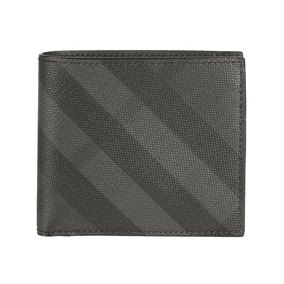 バーバリー BURBERRY 財布 メンズ 二つ折り財布(小銭入れ付) チャコールグレー/ロンドンチェック CC BILCOIN 4056421 SMV:PCAL 02600 CHARCOAL/BLACK【英国】