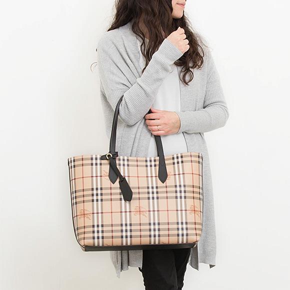Burberry BURBERRY bag lady reversible tote bag MD REVERSE A4 black 4049635 ACBZU 00100 BLACK