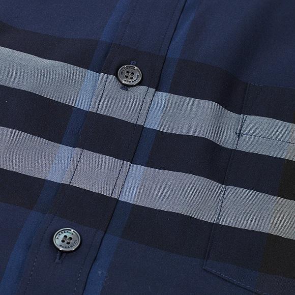 바바리 BURBERRY 맨즈 셔츠 인디 5푼 루 NELSON 4023482 ABMIH 4636 B INDIGO BLUE