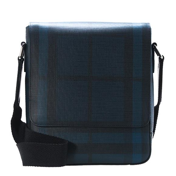 Burberry Bag Men Shoulder Navy Black Check Green Ford 3996215 Smv Pcal 4100b