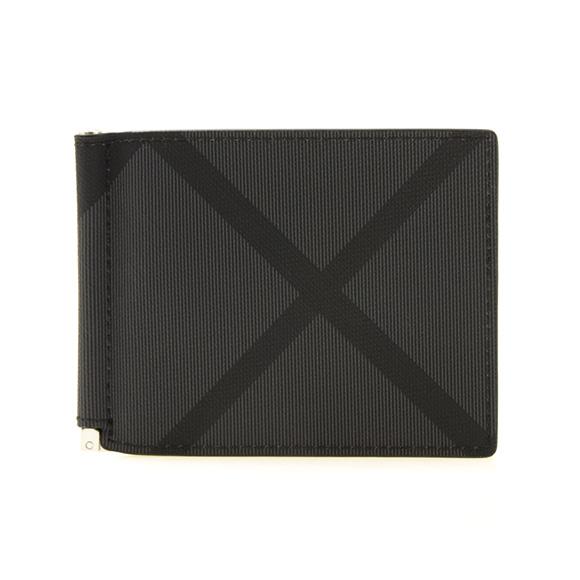 バーバリー BURBERRY 財布 メンズ 二つ折り財布(マネークリップ) ロンドンチェック LONDON CHECK QUILLEN 8006056 KCO:110269 A1008 CHARCOAL/BLACK【英国】