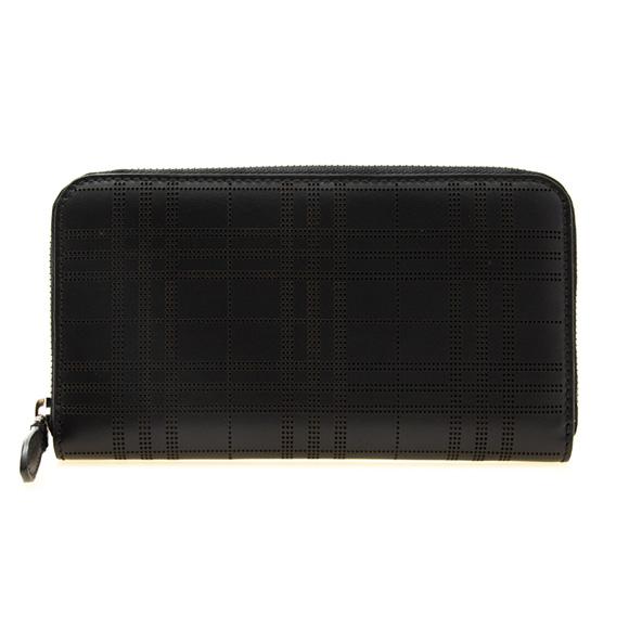 バーバリー BURBERRY 財布 メンズ ラウンドファスナー長財布 ブラック 黒 LG ZIG 8005960 TKR:ABPUI 00100 BLACK【英国】