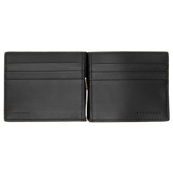ff38ba8707dc ... バーバリーBURBERRY財布メンズ二つ折り財布(マネークリップ)ブラック黒QUILLEN8006007LON:11124600100BLACK【  ...