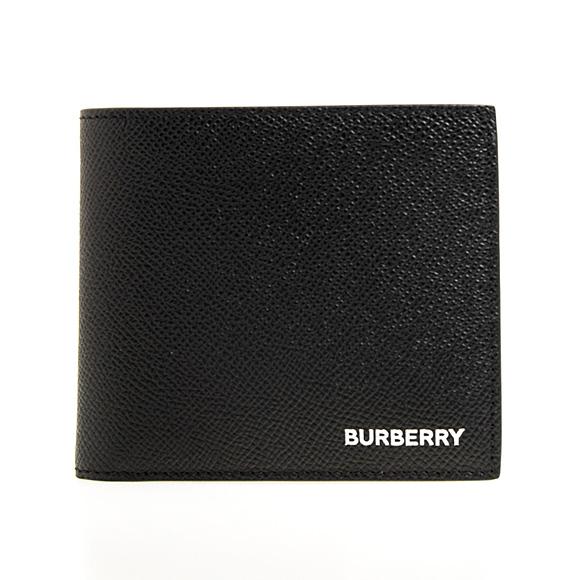 バーバリー BURBERRY 財布 メンズ 二つ折り財布 ブラック REG CC BILL8 80146531 TT8:114498 A1189 BLACK【英国】