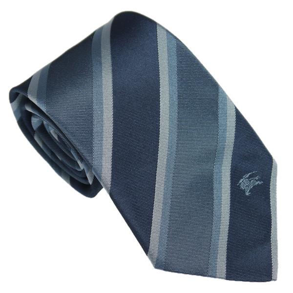 博柏利领带蓝色条纹3771955 REGENT 4526L MINERAL BLUE BURBERRY