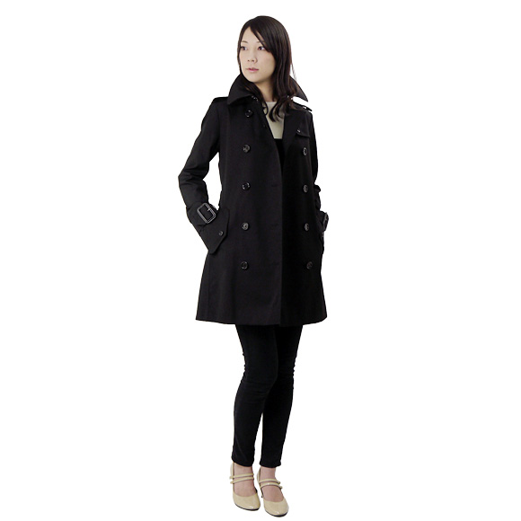 BURBERRY / Burberry women's trench coat black MARYSTOW 3762015 00100 BLACK BURBERRY size: 10