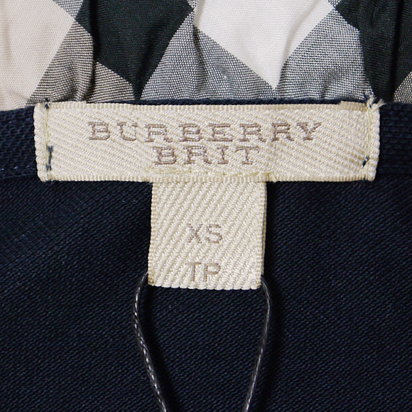 BURBERRY/ Burberry Lady's short sleeves polo shirt navy YNG81270 3847363 41000 NAVY BURBERRY BRIT ばーばりー