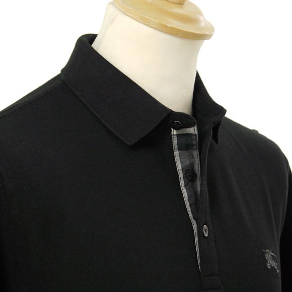 black burberry polo
