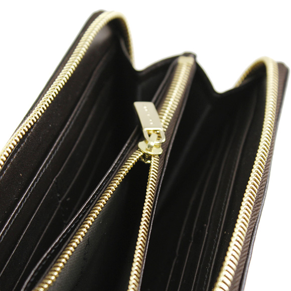 BURBERRY Burberry wallet ladies zip around wallet LG ZIGGY Haymarket check / chocolate 3855847 CHOCOLATE HYM 2070T