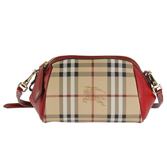 Military red MINI BLAZE 3886071 6080T MILITARY RED BURBERRY / BURBERRY / Burberry  Womens cross body bag / Pochette Haymarket check