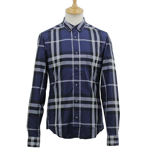 blue burberry shirt men