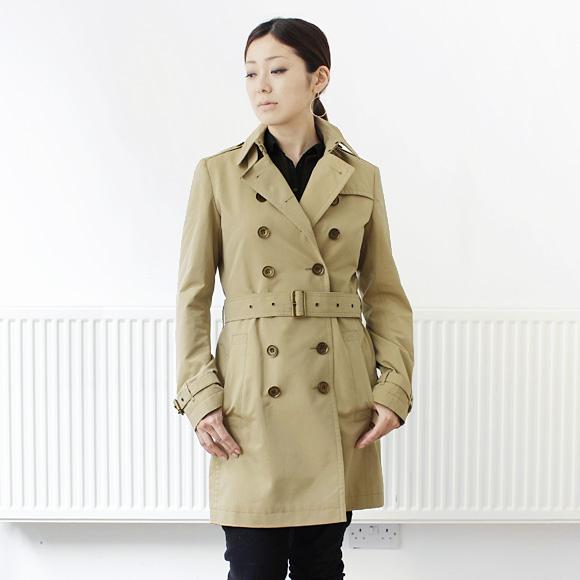 And Burberry BURBERRY trench coats Womens cotton Poplin trench coat honey beige 3945824 AAPTUY 70,500 HONEY