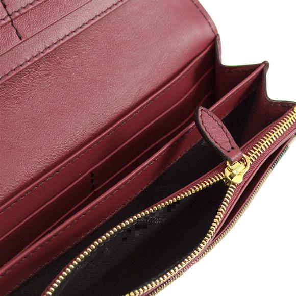 바바리 BURBERRY 지갑 레이디스장 지갑 하우스 체크/라셋트렛드PORTER 3975327 HHL:COCA 60780 RUSSET RED