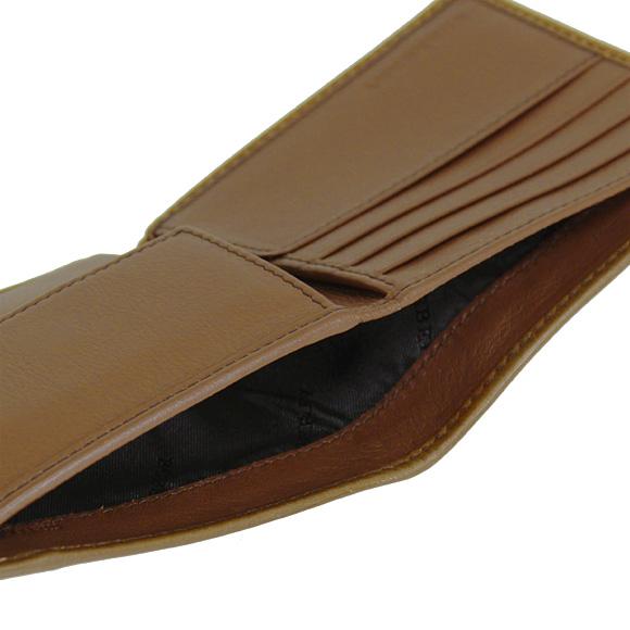 Burberry BURBERRY wallet Burberry mens two bi-fold wallets (purses with) Horseferry check / than brawn CC BILL COIN 3963270 HNC:ABHTI 2160T TAN