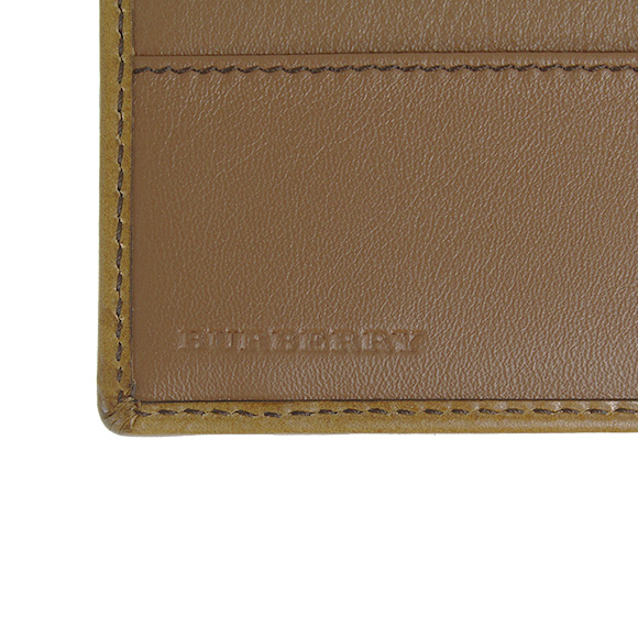 Burberry BURBERRY wallet Burberry mens two bi-fold wallets (purses with) Horseferry check / than brawn CC BILL COIN 3963270 HNC:ABHTI 2160T TAN
