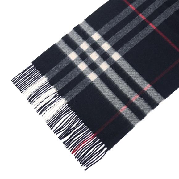 Burberry BURBERRY cashmere scarf fashion GIANT ICON 3993734 168: CS 4100B NAVY CHECK