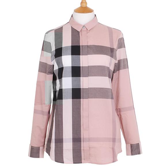 버 버 리 BURBERRY 셔츠 여성 체크 셔츠 앤티크 핑크 TRI85712 3999107 AALUF 6590B ANTIQUE PINK