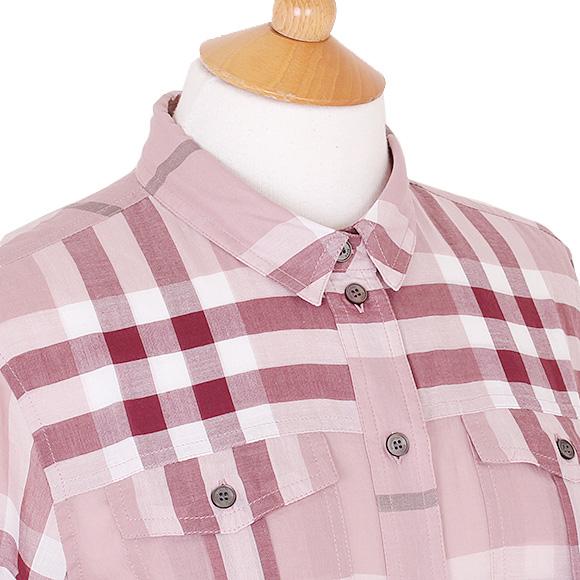 버 버 리 BURBERRY 셔츠 여성 체크 셔츠 앤티크 핑크 TAL85020 3999116 ABIZT 6590B ANTIQUE PINK