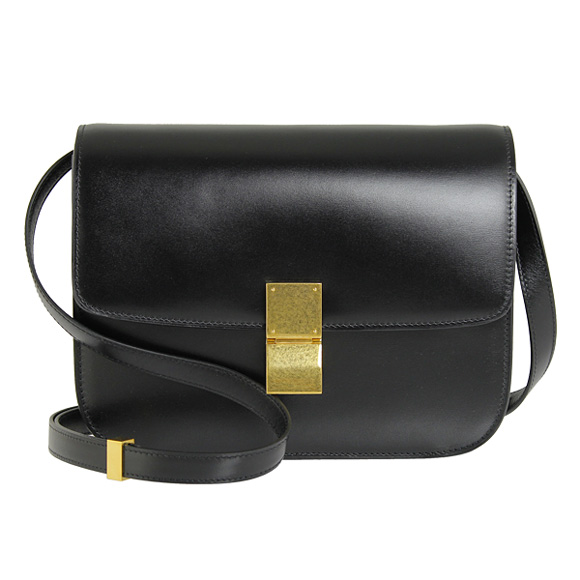 CELINE Celine bag ladies 2-WAY shoulder bag CLASSIC BOX CALF SKIN black 16417 3DLS 38 NO BLACK