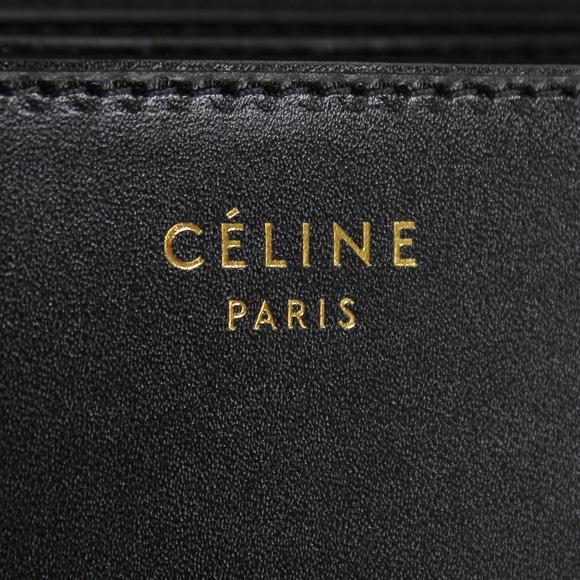 CELINE Celine bag ladies 2-WAY shoulder bag CLASSIC BOX CALF SKIN black 16417 3DLS 38 NO BLACK