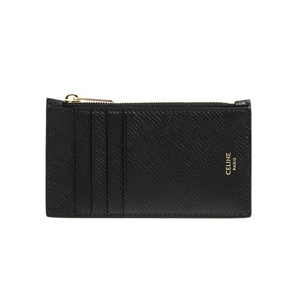 low priced f90a3 96060 Celine CELINE wallet Lady's card case / coin case black black ZIPPED  COMPACT CARD HOLDER 10B68 3BEL 38NO BLACK