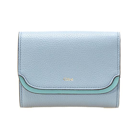 クロエ CHLOE 財布 ミニ財布 レディース 三つ折り財布 EASY COMPACT WALLET [イージー] ウォッシュドブルー CHC17WP972 / 3P0972 H8J 4E2 WASHED BLUE