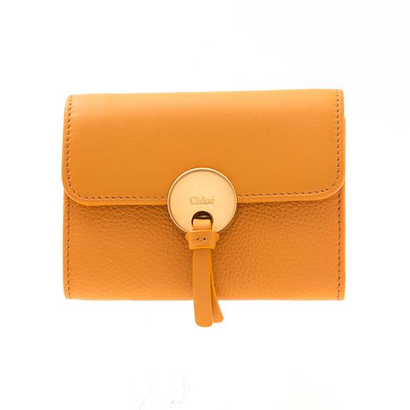 クロエ CHLOE 財布 レディース 三つ折り財布 ミニ財布 キャメルイエロー INDY COMPACT WALLET CHC17SP853 / 3P0853 H8J 214 BUMING CAMEL