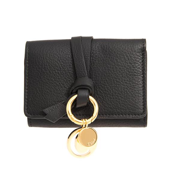 クロエ CHLOE 財布 レディース 三つ折り財布 ブラック ALPHABET COMPACT WALLET CHC17AP946 / 3P0946 H9Q 001 BLACK【ミニ財布】