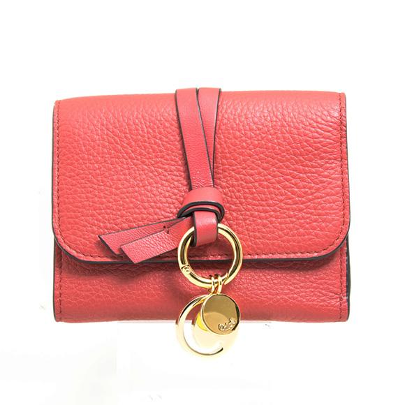 クロエ CHLOE 財布 レディース 三つ折り財布 スカーレットピンク ALPHABET SMALL TRI-FOLD CHC17AP945 / 3P0945 H9Q 6AM SCARLET PINK