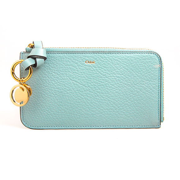 クロエ CHLOE レディース キーケース/カードケース フェードブルー ALPHABET MEDIUM PURSE WITH SLOT CARDS & KEY POCKET CHC19WP017 H9Q 44L FADED BLUE