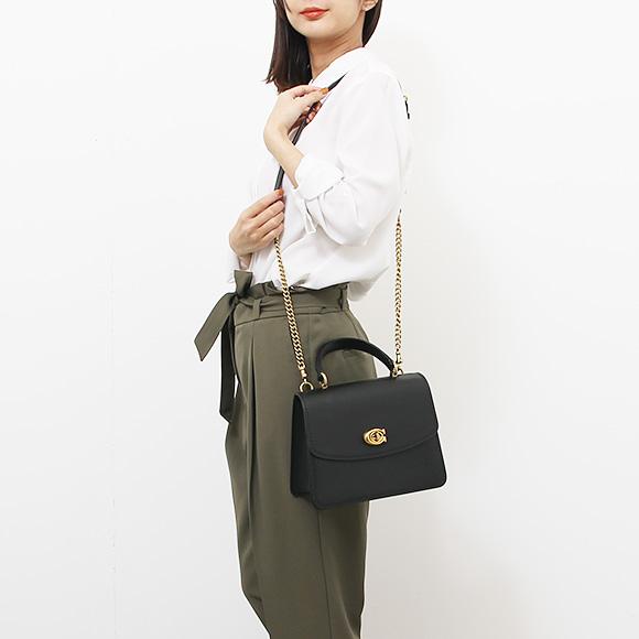 「Coach Women's Refined Calf Leather Parker Top Handle Bag - Black」的圖片搜尋結果
