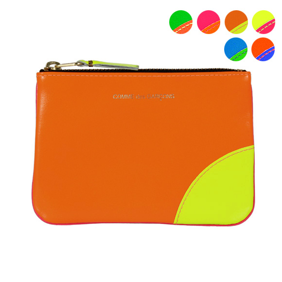 Wallet for Women, Fluo Orange, Leather, 2017, One size Comme Des Gar?ons