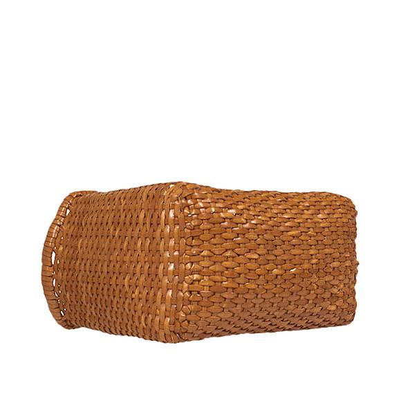 龙德福约翰龙扩散则 CanGoBack 女士皮革网袋 B 编织小 8804