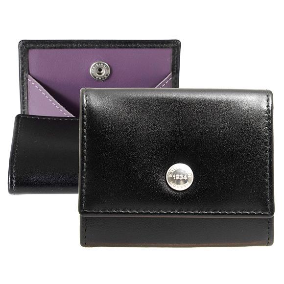エッティンガー ETTINGER 財布 コインケース ブラック 黒 ロイヤルコレクション COIN PURSE ST145JR BLACK/PURPLE PURPLE/STERLING COLLECTION【英国】