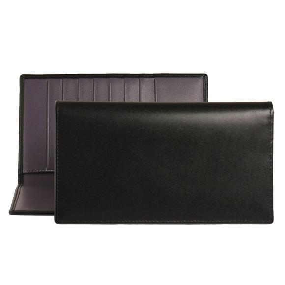 エッティンガー ETTINGER 財布 メンズ 長財布 ブラック 黒 ロイヤルコレクション COAT WALLET WITH 8 C/C ST806AJR BLACK/PURPLE PURPLE/STERLING COLLECTION【英国】