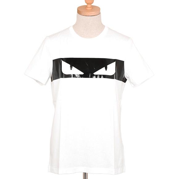 フェンディ FENDI メンズ 半袖Tシャツ ホワイト T-SHIRT BUGS SHADE LIGHT FAF511 A2V0 WHITE