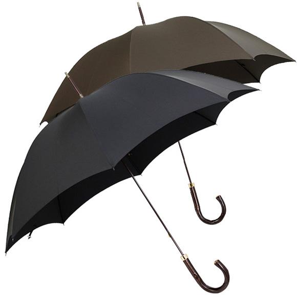 フォックスアンブレラズ FOX UMBRELLAS 傘 GT11 メンズ 長傘 [全2色] BARK CHESTNUT HANDLE 【国内配送G】【レイングッズ】【英国】