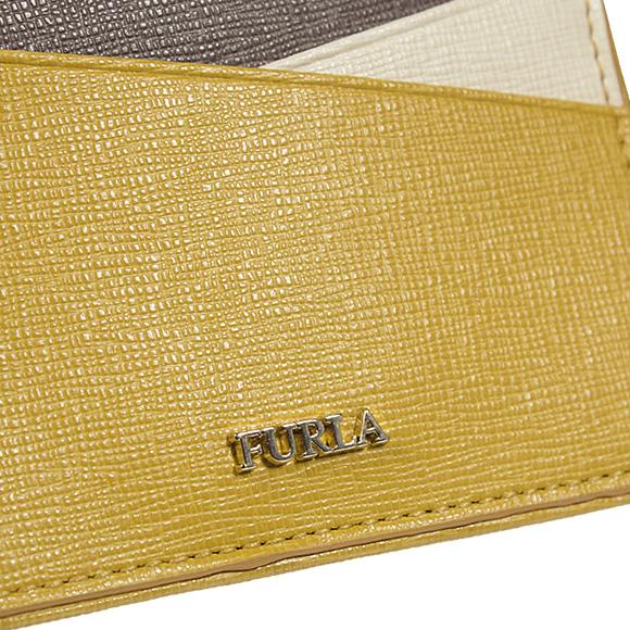 전체 라 FURLA 패스 케이스 여성 ID 카드 홀더 PAPERMOON BADGE HOLDER [종이 달] 브래지어 옐로우 801130 PO87 B30 AM0 AMBRA