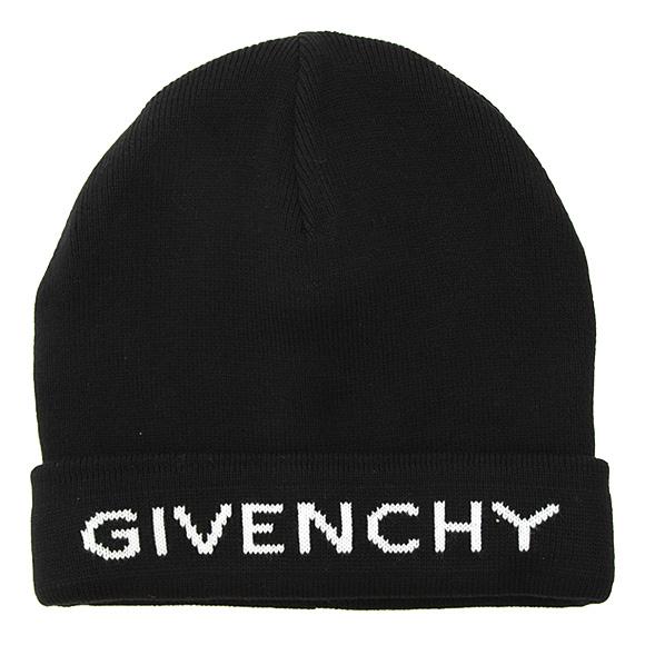 ジバンシィ GIVENCHY 帽子 メンズ ニット帽 ブラック 黒 BPZ 007 4Y13 004 BLACK/WHITE