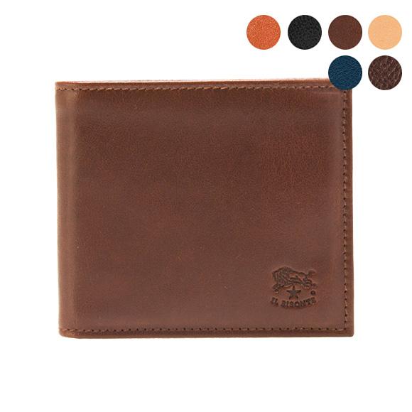 イルビゾンテ IL BISONTE 財布 二つ折り財布(小銭入れ付) COWHIDE WALLET WITH COIN PURSE C0487/M P [全6色]