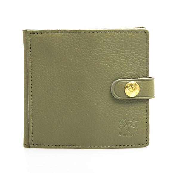 イルビゾンテ IL BISONTE 財布 二つ折り財布(小銭入れ付) ミニ財布 オリーブグリーン C0508 EP 955 OLIVE【母の日】