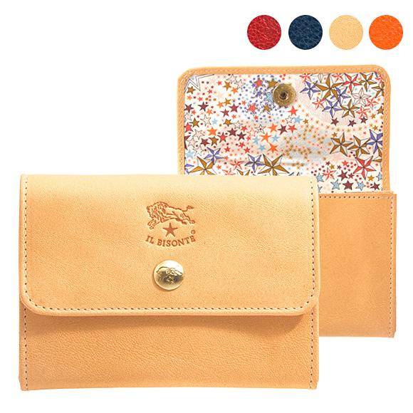 イルビゾンテ IL BISONTE 財布 レディース 二つ折り財布 C1064 LL [全4色]【母の日】