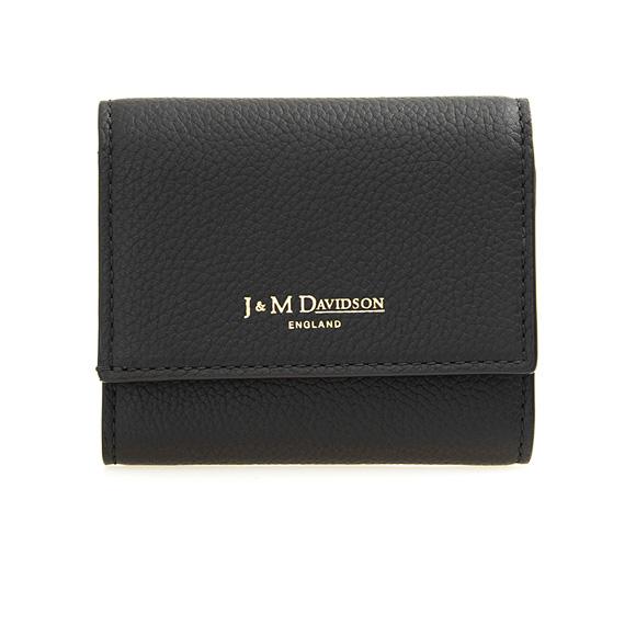ジェイアンドエムデヴィッドソン J&M DAVIDSON 財布 レディース 三つ折り財布 ミニ財布 TWO FOLD WALLET [トゥー フォルド ウォレット] ブラック 黒 10149 7470 9990 BLACK 【英国】【母の日】
