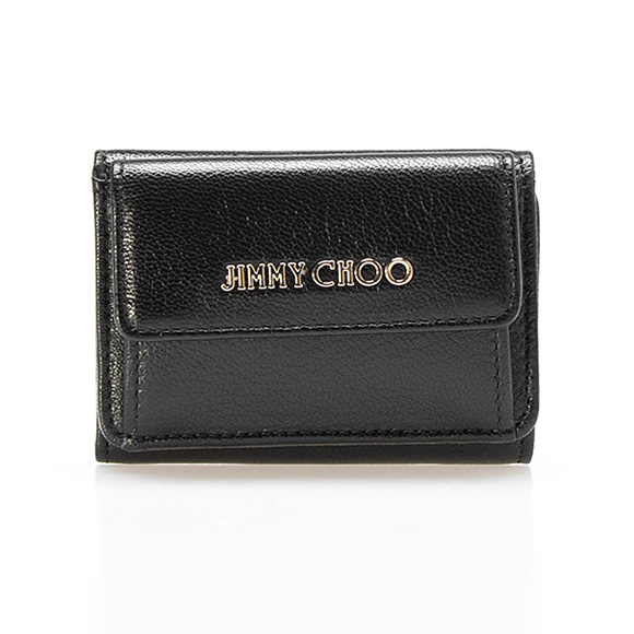 Three ジミーチュウ JIMMY CHOO wallet Lady's fold wallet black NEMO [Nemo] GRZ 010003 BLACK