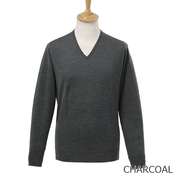 Smedley JOHN SMEDLEY mens V neck long sleeve knit EASY FIT 4 colors