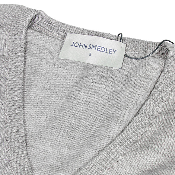 Smedley JOHN SMEDLEY mens V neck long sleeve knit EASY FIT 4 colors
