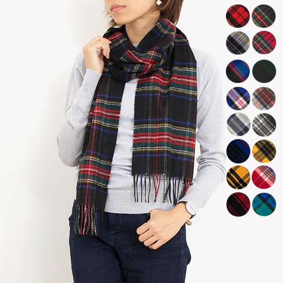 Johnstons Of Elgin Cashmere Scarf Tartans Wa000016 6 Colors