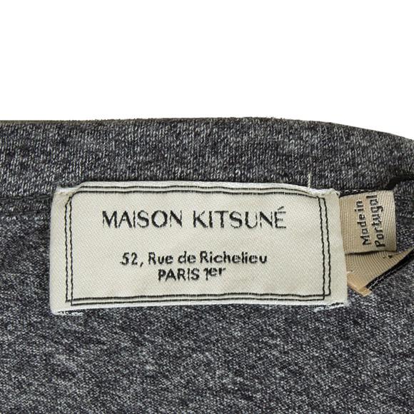 Maison 狐狸之家狐男装短 T 长袖衬衫 t 恤狐狸头修补黑暗 BKM 黑色混杂